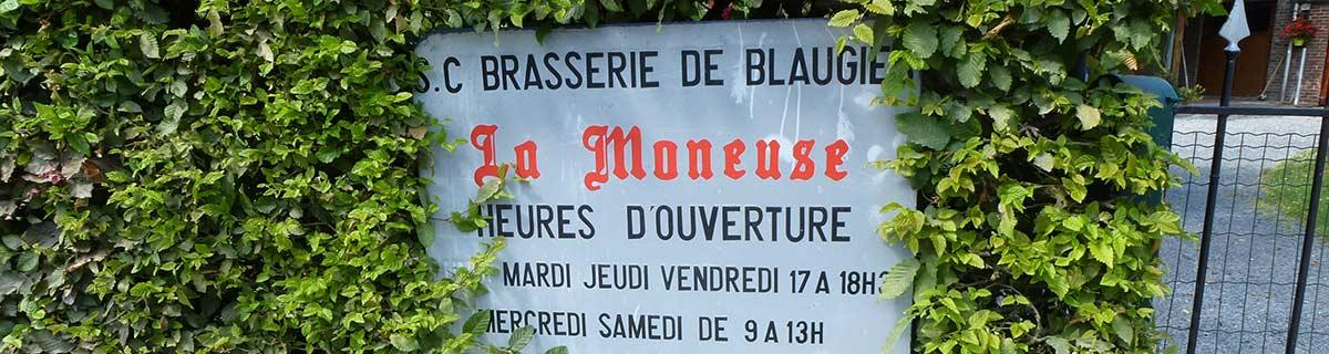Firmenschild Brasserie de Blaugies, Portrait auf Bergers belgisches Bier-Blog