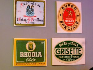 Werbetafeln St. Feuillien Brauerei, Le Roeulx, Belgien