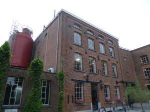 St. Feuillien Ansicht historische Produktionsstätte, Le Roeulx, Belgien.
